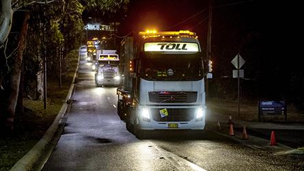 Transport de combustibles usés, Australie