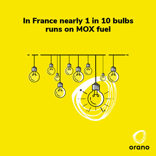 1 in 10 bulbs runs on MOX fuel