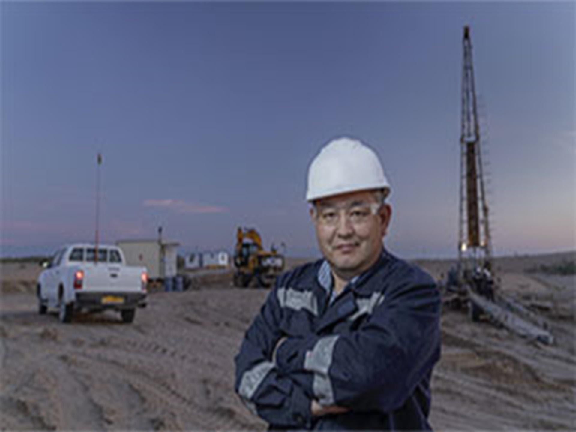 Extraction minière. Site de Muyunkum, Kazakhstan.