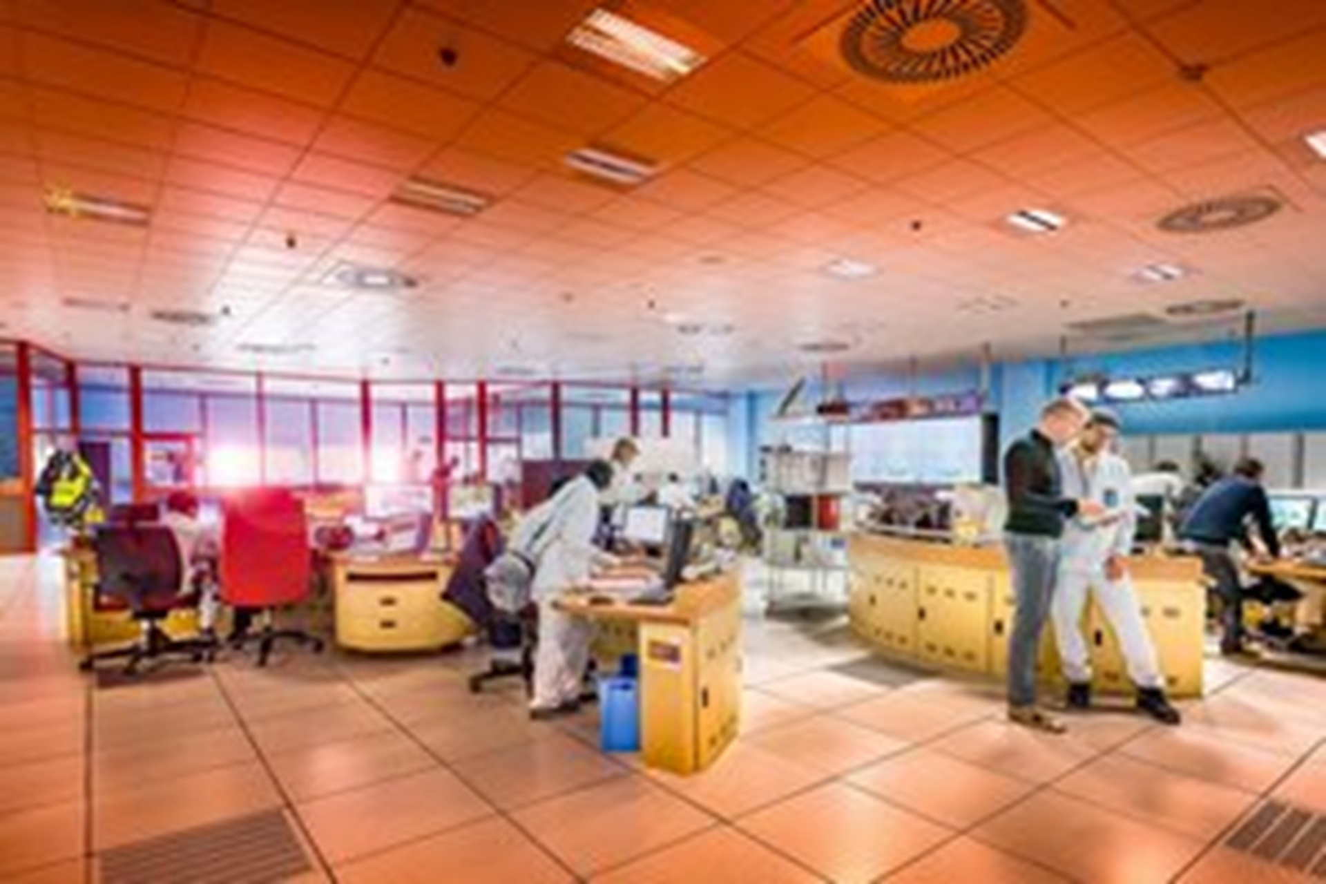 Salle de conduite de l'usine d'enrichissement Georges Besse II Nord (GB II), Tricastin