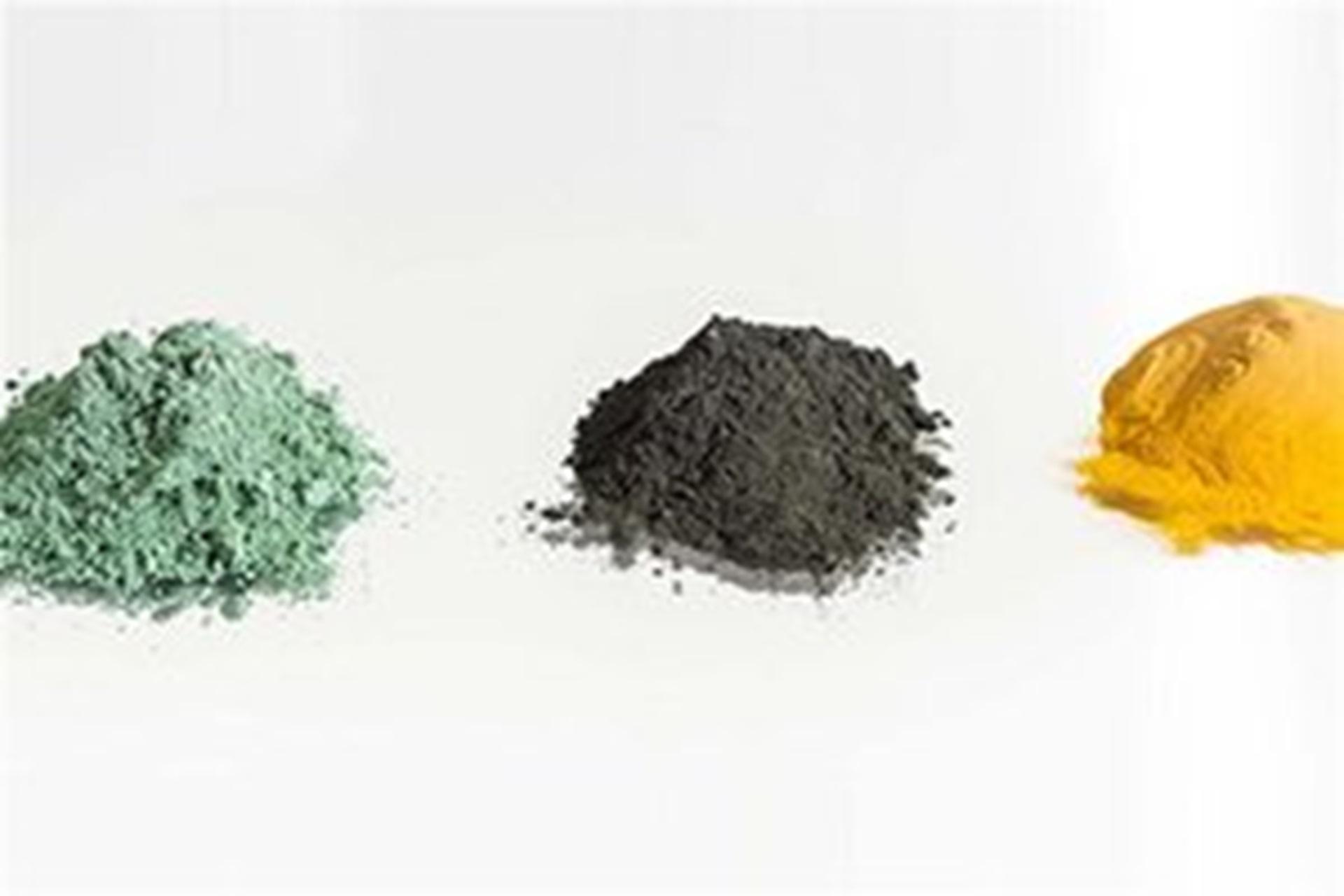 Ore samples: Uranium tetrafluoride (UF4), Yellow cake (calcined and natural)